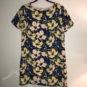 Floral j.crew dress in new condition